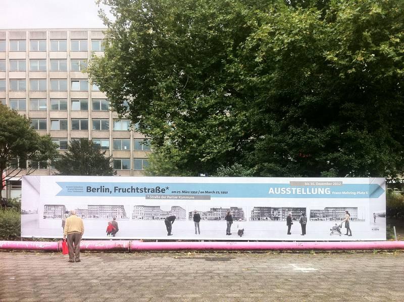 Berlin, Fruchtstraße* Ausstellungsplakat