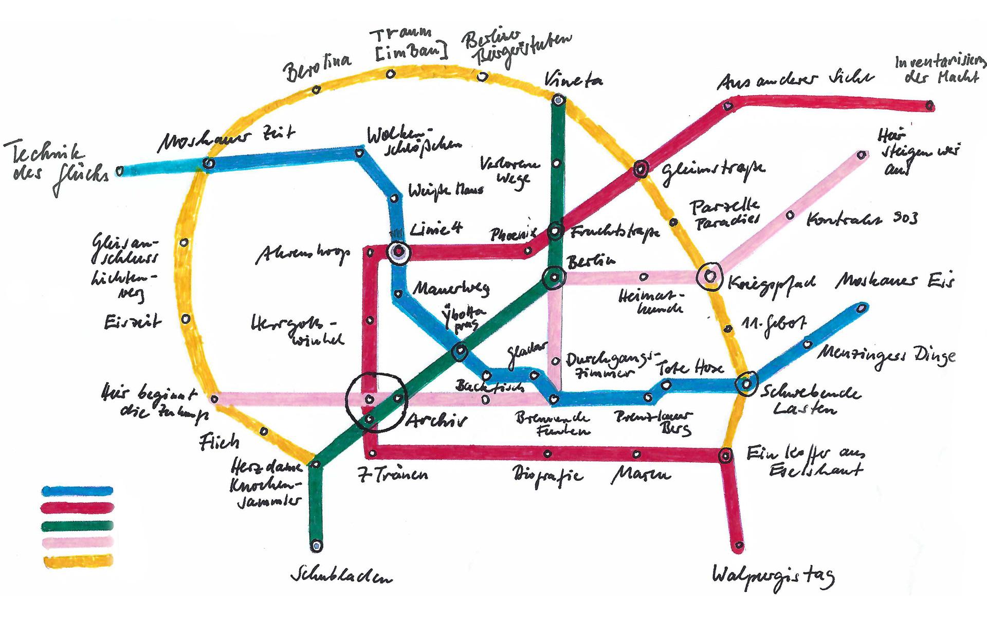 Liniennetz Berlin Annett Gröschner