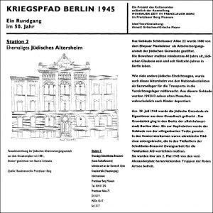 Kriegspfad 1945, Station 2, Ehemaliges Jüdisches Altersheim