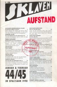 Slklavenaufstand Doppelheft 44/45
